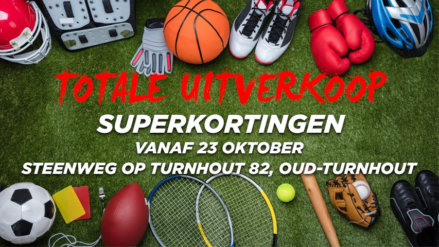 Totale uitverkoop bij GO Sport Oud-Turnhout