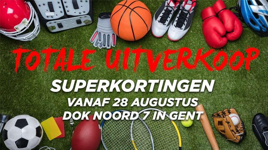 Totale uitverkoop bij GO Sport Gent