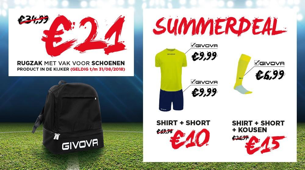 Givova summerdeals bij GO Sport!