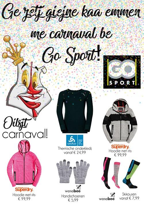 Klaar voor Oilsjt Carnaval? Haal je warme onderkledij bij GO Sport!