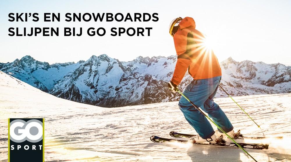 Laat je ski's en snowboards slijpen bij GO Sport