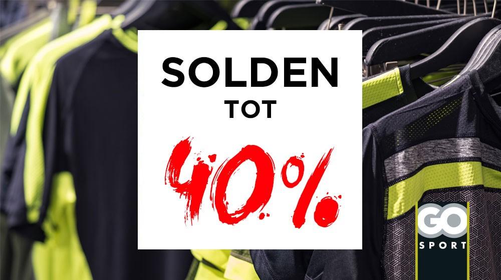 GO Sport: solden tot 40%!
